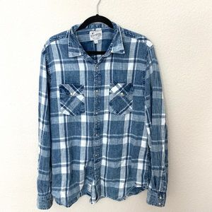 Plaid lucky brand button up